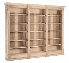 Grande libreria a giorno in Abete smontabile 3 cassetti 5 ripiani al grezzo New