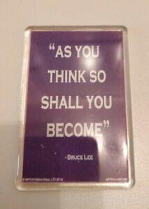 Bruce Lee Quote Fridge Magnet