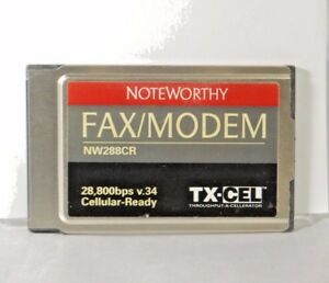 NoteWorthy Fax/Modem 28,800bps v.34 Cellular-Ready NW288CR. Used.