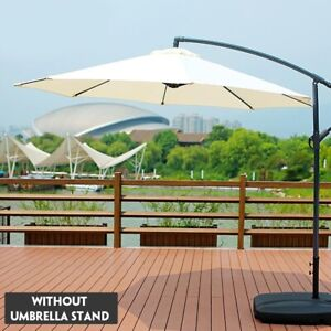 NEW 10' PATIO UMBRELLA OFFSET HANGING UMBRELLA OUTDOOR MARKET 55% OFF LAST DAY