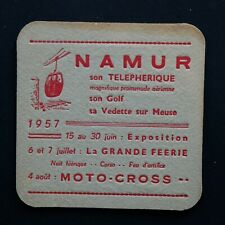 Ginder Ale - 1957 Moto Cross Namur  Sous-bock bierviltje bierdeckel coaster