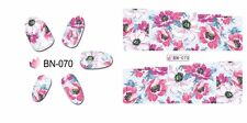 Nail Art Water Decals Stickers Transfers Wraps Spring Summer Flowers Floral BN70