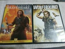 Braveheart (Dvd) & Wolfhound (Dvd) NrMint/perfect discs & cases.