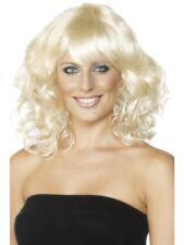Long Blonde Glamour Wavy Wig Ladies Fancy Dress Accessory