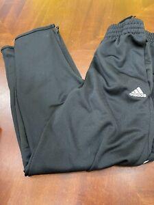 Kids black adidas athletic pants 10/12 medium