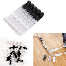 20pcs Smart Adhesive Wire Cord Cable Drop Clips Ties Organizer Holder Line Fixer