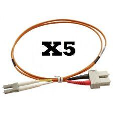 X5 LC - SC Multimode Duplex Fibre Patch Leads