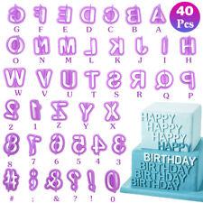 40X Alphabet Number Letter Fondant Cake Decorating Set Icing Cutter Mold Mould 1