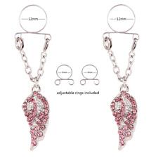 Pair of Fake Body Chain Nipple Ring Jewellery Nipple Noose Non Piercing Fake #18