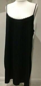 """bnwt MARKS & SPENCER FULL SLIP UK 26 L23"""" BLACK COOLING CLING RESIST REVERSIBLE"""