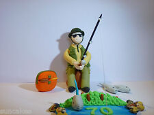 Cool Fishing Fisherman Edible sugar paste decoration cake topper birthday