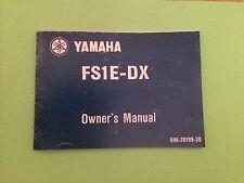 YAMAHA FS1E FIZZY FS1 FS1-E FS1-ED/DX 1975 OWNERS MANUAL
