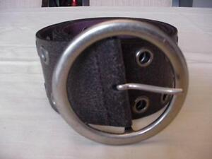 """BROWN LEATHER WIDE 2 ROW GROMMET BELT SIZE MEDIUM NWOT FITS 30"""" TO 34"""""""
