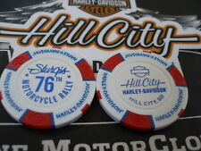 Red White & Blue 76th Ann. Poker Chip from Hill City Harley Davidson