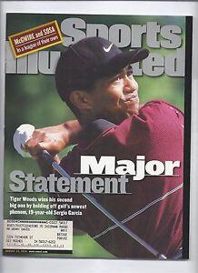 1999 Sports Illustrated Magazine August 23rd Tiger Woods Wins PGA Championship