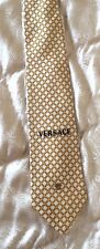 Auth. Gianni Versace Tie, 100% Silk, yellow color, New with original plastic!