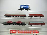 AI6-1# 5x Märklin H0/AC Bastler-Kessel-/Rungen-/Güterwagen: Aral etc, DB