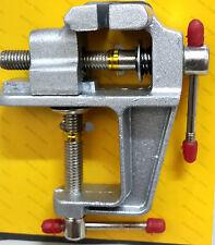 Mini morsa da banco alluminio per  lavori precisione modellismo orologi gioielli