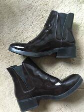 Zara Basic Ankle Boots,Low Block Heel, slip on ,Leather Ladies Size 7 Eu 40 Used