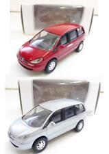 """Lot de 2 Peugeot 807 (Gris, Rouge) 1/64 """"3 Inches"""" NOREV Produit NEUF"""