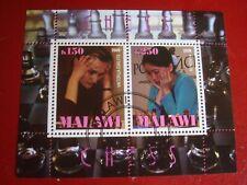 MALAWI: 2009 CHESS PLAYERS II - MINISHEET UNMOUNTED USED MINIATURE SHEET