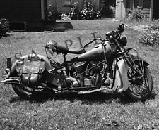 "WWII Era 1939 Indian Chief Motorcycle 16""x 20"" Poster Photo 29 Harley-Davidson"