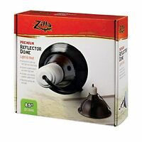 Zilla Reptile Terrarium Heat Lamps & Habitat Lighting Dome, Blk 8.5-In