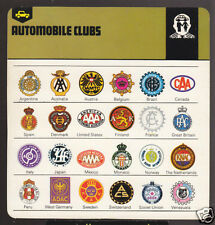 AUTOMOBILE CLUBS OF THE WORLD Picture Logo History CARD