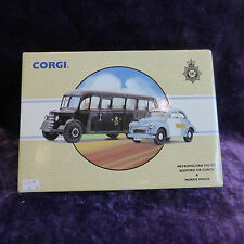 CORGI CLASSIC VEHICLES METROPOLITAN POLICE BEDFORD OB COACH AND MORRIS MINOR