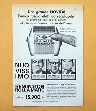D047 - Advertising Pubblicità - 1959 - REMINGTON RASOIO ROLL-A-MATIC