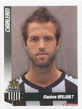 N°087 MAXIME BRILLAULT # FRANCE SPORTING CHARLEROI STICKER PANINI FOOTBALL 2011