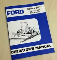 """Ford Series 917H 62""""-74""""-88"""" Flail Mowers Operators Owners Manual"""
