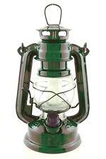 GREEN hurricane LED 7 1/2 in lamp emergency light lantern hanging antique rustic
