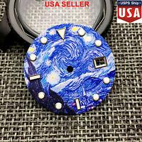 31mm Full Luminous Kanagawa Surfing Watch Dial for Seiko NH35A Watch Movement US