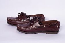 Mens brown leather deck shoes, slip resistant, non marking sole. Size uk 10