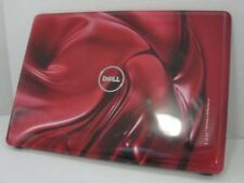 """Genuine Dell Inspiron 1440 14"""" Red Swirl LCD Lid Back Cover W33TJ No hinges"""