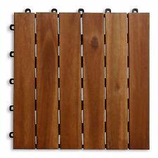 1,99€ Terrassenfliesen Klickfliese Holzfliesen Holz Fliese geölte Akazienfliesen