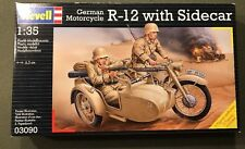 REVELL GERMAN MOTORCYCLE R-12  WITH SIDECAR SCALE 1:35 NEW J&E HOBBY