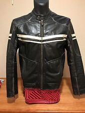 "River Road Hoodlum Vintage Leather Jacket with ""1903 Harley Davidson"" patch S 40"