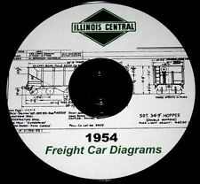 Illinois Central 1954 Freight Car Diagrams PDF Pages on  DVD
