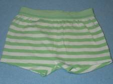 Target Cute Little Ones Green & White Striped Shorts, Size 3-6 Months