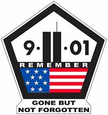 9-11 MEMORIAL REMEMBER Full-Color WTC Sticker Decal 9/11 Never Forget NYC Vinyl