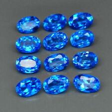 6.64 TCW 12pcs 6.0x4.0 Natural Sweet Blue TOPAZ for Jewelry Setting Oval Cut