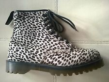 DOC DR MARTENS WHITE TOPOS HAIR-ON CHEETAH LEOPARD ANIMAL BOOTS RARE UNISEX 7UK