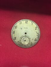 VINTAGE ELGIN GOLD TONE ELGIN 10S POCKET WATCH DIAL DOUBLE SUNK