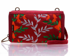Smartphone wallet wristlet/crossbody compact design medium fits iPhone 6 plus