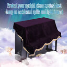 Durable Upright Piano Dustproof Protective Cover Pleuche Cloth Accessory Purple