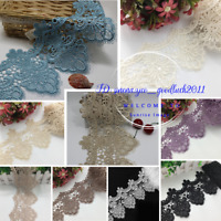 1 Yard Polyester Lace Trim Ribbon Crochet Applique Embroidered Sewing Craft FL81