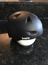 Pre-owned Bern Zip Mold Bike Skate & Snow Helmet Grey Sink Fit Size M