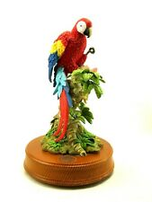 Scarlet Macaw Parrot San Francisco Music Box National Geographic 10 1/2 inch